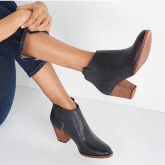 Madewell Billie Black Leather Heeled